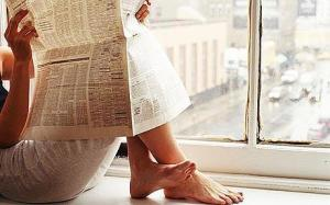 newspaper-windowsill