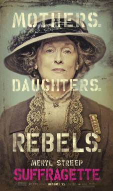 Suffragette movie poster with Meryl Streep.