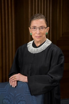 Ruth Bader Ginsburg poses for a portait.