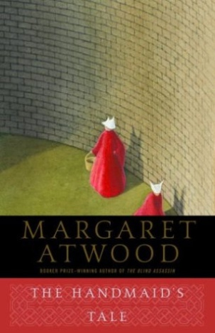 "The cover of Margaret Atwood's novel ""The Handmaid's Tale"""