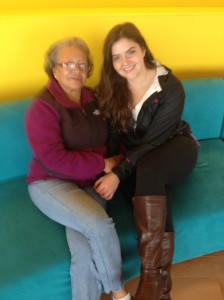 Tatiana with her abuelita