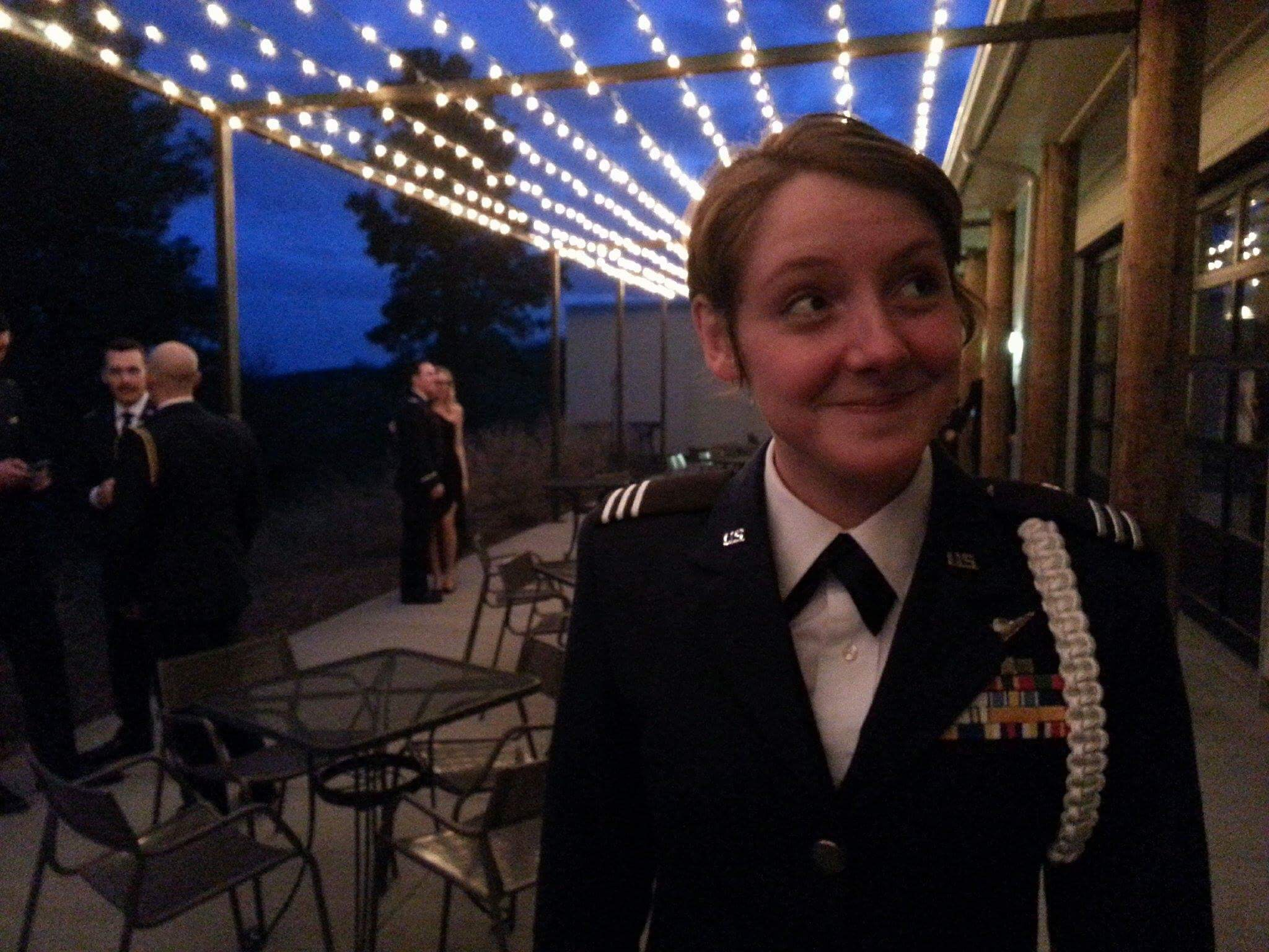 Cadet Berreth smiling in Service Dress