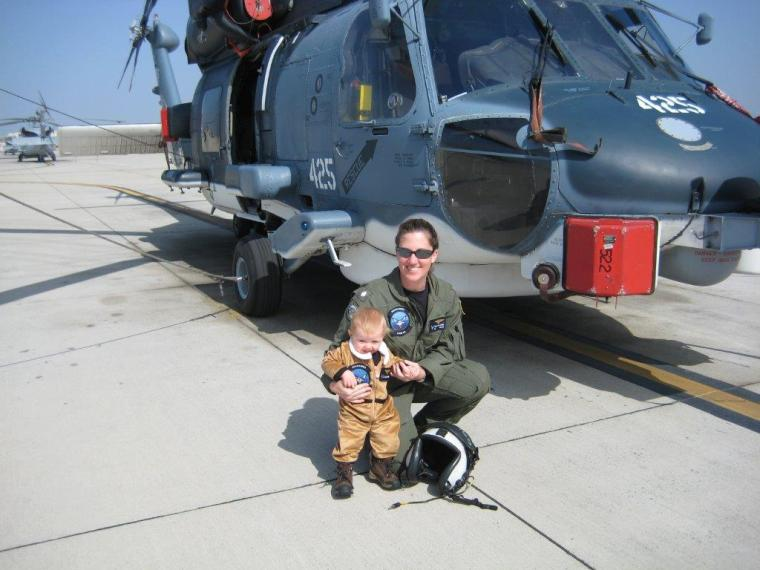 CAPT McAndrew posing with her daughter Carly.