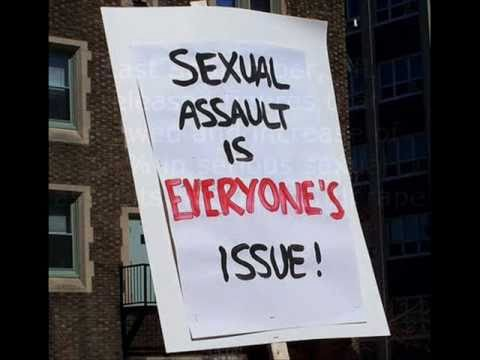 "A sign that says ""Sexual assault is everyone's issue"""