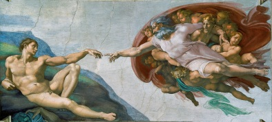"Michelangelo's ""The Creation of Adam"""