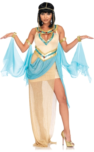 A sexy Cleopatra Halloween costume. Purchase here: https://www.mydivascloset.com/quclhaco.html