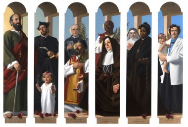 Well known saints painted by Neilson Carlin.