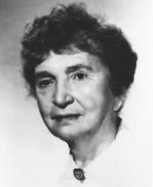 Black and white photograph of Margaret Sanger taken in the 1940s