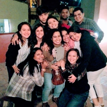 The author (center) with her pro-life friends in GTO, Mexico