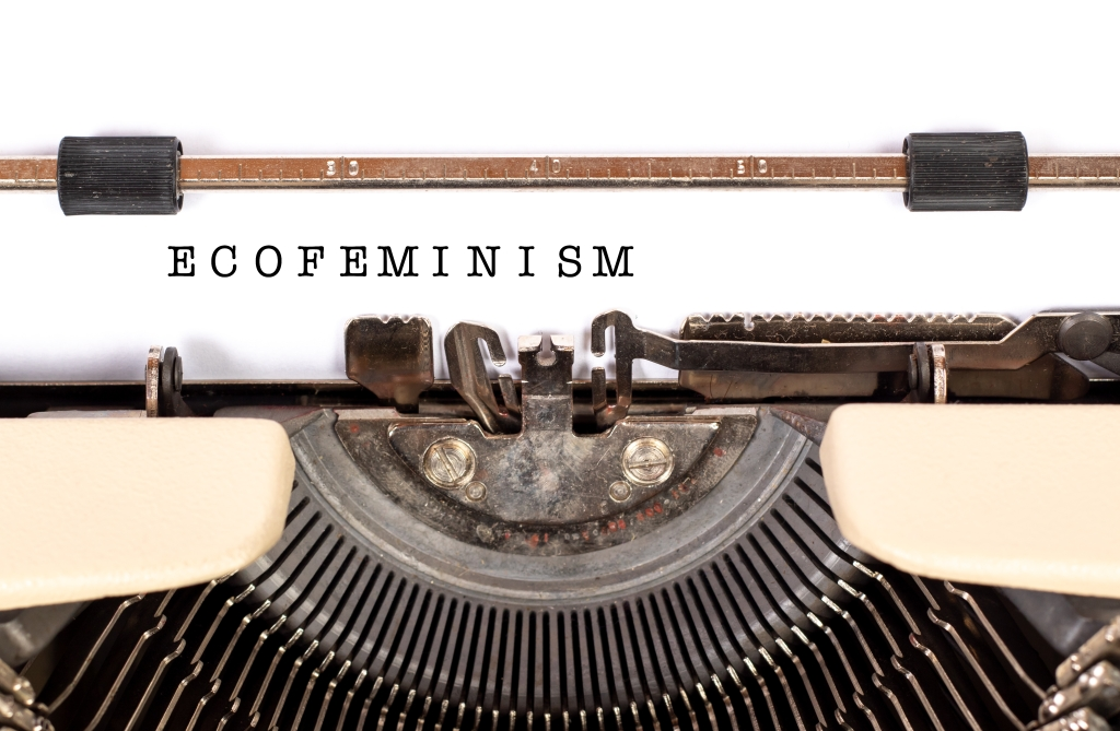 The word ecofeminism written with a typwriter. Taken from Marco Verch.