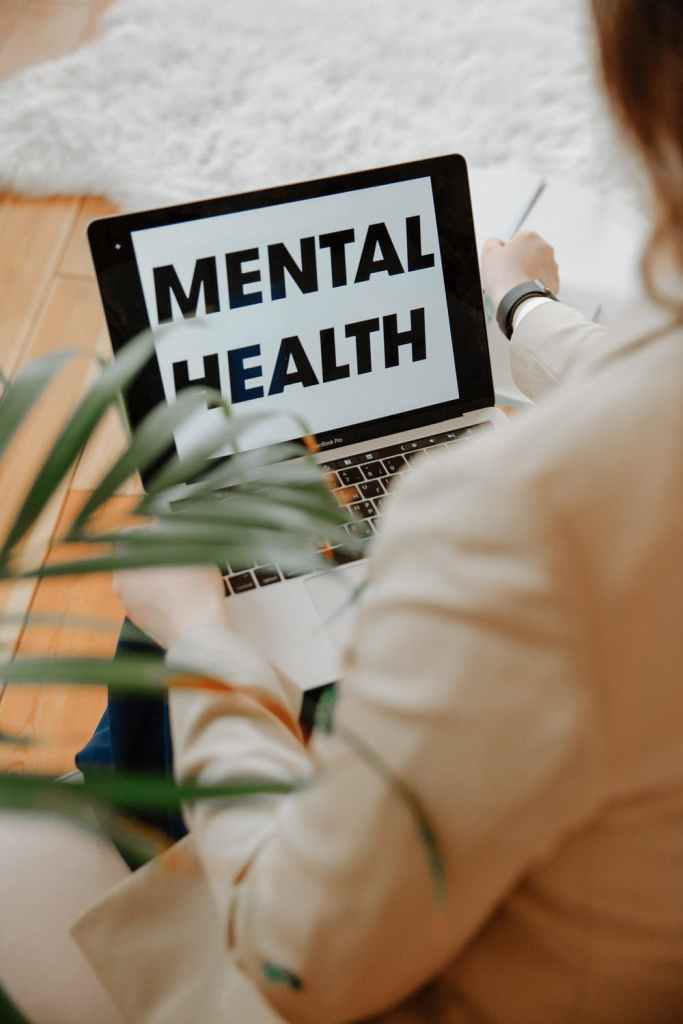 Mental Health displayed on a computer screen.